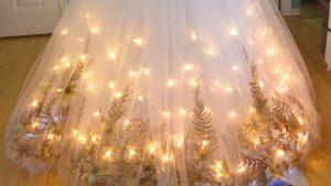 Еще один вариант украшения под елку на новый год