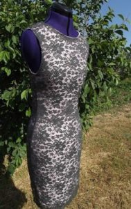 Готовое платье из гипюра