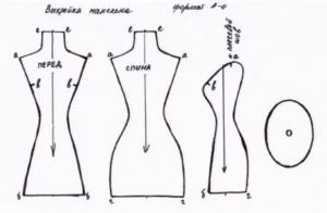 Манекен игольницы - схема 1