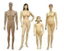 Размеры манекенов