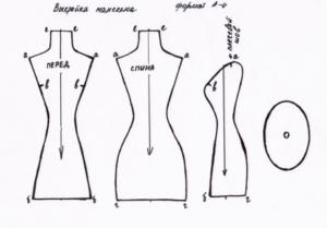 Схема для создания мини манекена