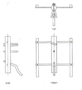 Схема изготовления деревянного манекена Винь-Чунь