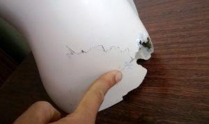 Сломанный манекен подлежащий ремонту