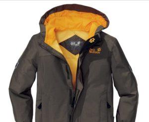 Куртка из материалов полиамида и полиэстера