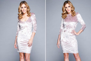 Красивое вельветовое платье