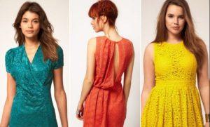 Фасоны гипюровых платьев