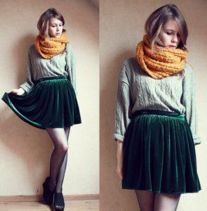 Вельветовая юбка