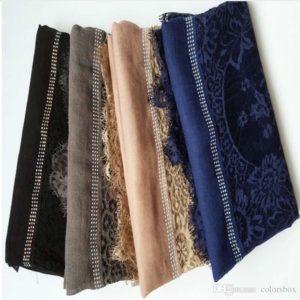 Вискозно-хлопковый шарф