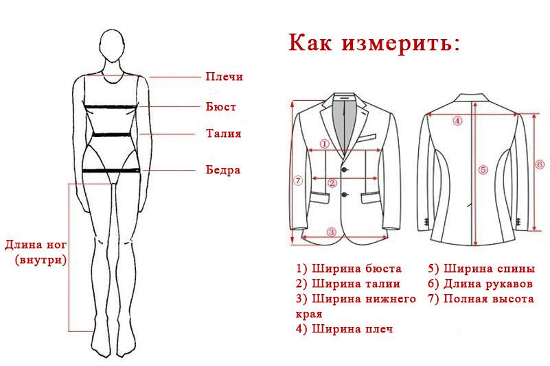 Схема-размера-женских-курток