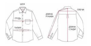Схема-размеров-мужской-рубашки