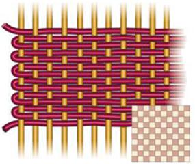 Перкаль плетение