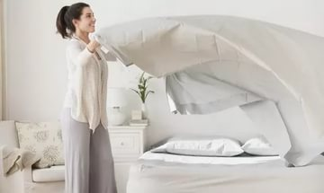 Поглаженное постельное белье