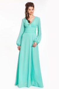 Креп-шифоновое платье