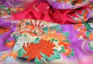 Шелковое кимоно