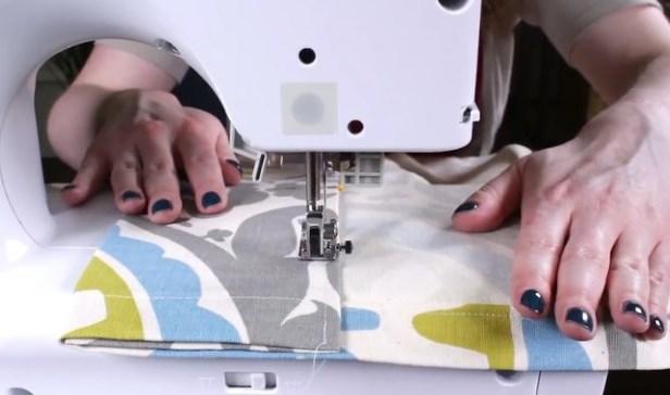 Пошив портьер швейной машинкой