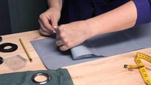 Как сшить шторы с люверсом