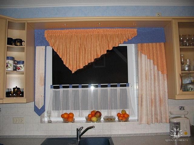 Самостоятельный пошив кухонных штор 6