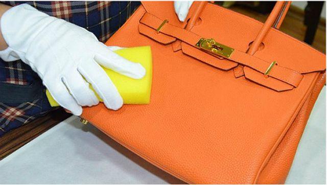 Чистка сумки из кожзаменителя