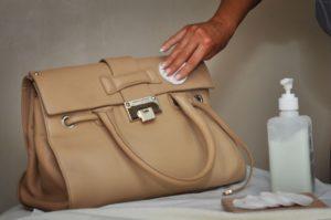 Чистка сумки из экокожи