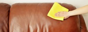 Мойка дивана из экокожи