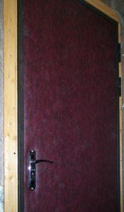 Обитая металическя дверь
