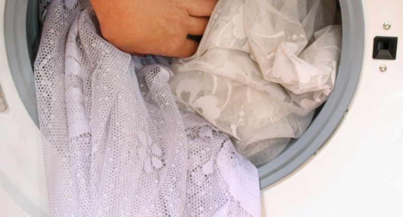 Гардина в стиральной машине