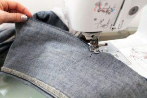 Подшивание джинс