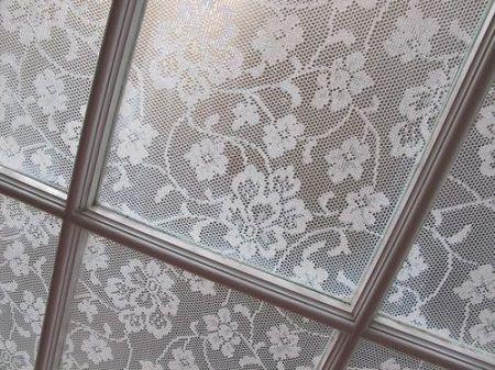 Тюль кружевная на окне
