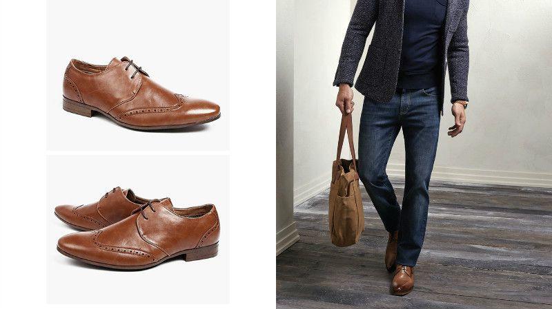 Джинсы мужские с туфлями