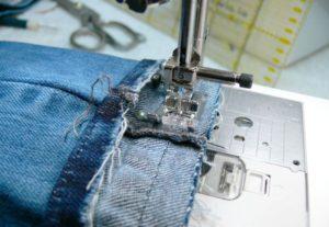 Удлинение джинс