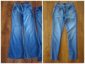 Зауженые джинсы