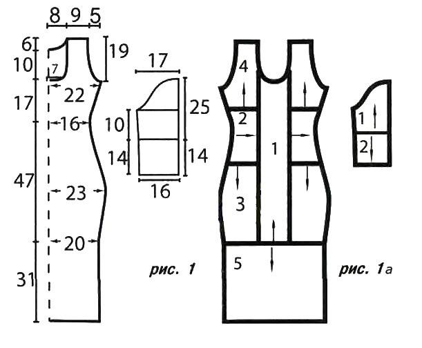 Рисунок платья