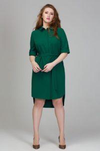 Габардиновое платье рубашка