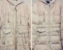 Куртка до и после стирки