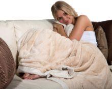 Светлое одеяло из шерсти мериноса