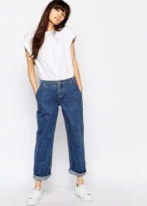 Подвороты на широких джинсах