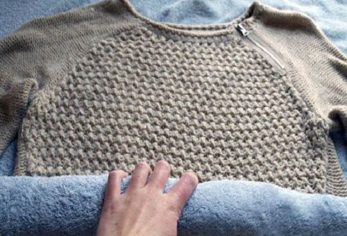 Сушка свитера из ангоры