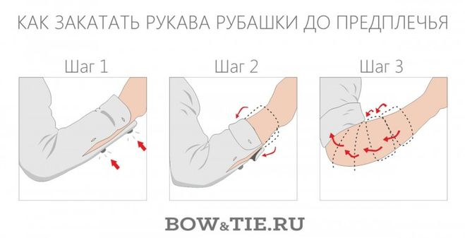 Как закатать рукава