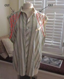 Блузка с воротником
