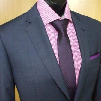 Галстук на розовой рубашке