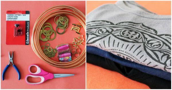 Инструменты для украшения футболки