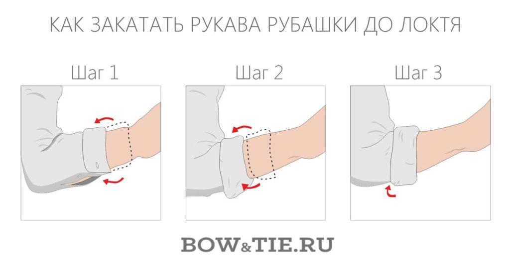 Как закатать рукав до локтя