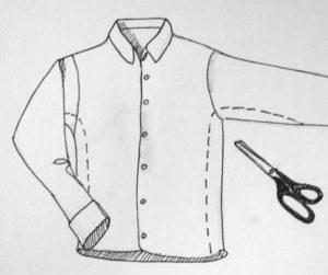 Как ушить рубашку в талии