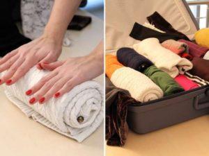 Скручивание одежды рулоном