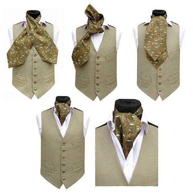 Способ завязывания платка под рубашку