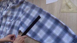 Ушиваем рукава рубашки