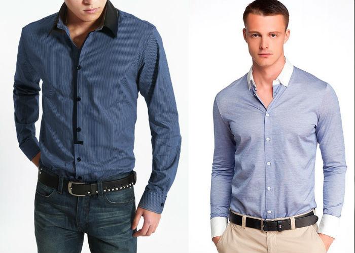 Заправленная рубашка в штаны