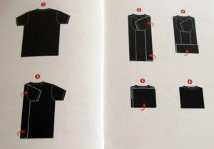 Как быстро свернуть футболку