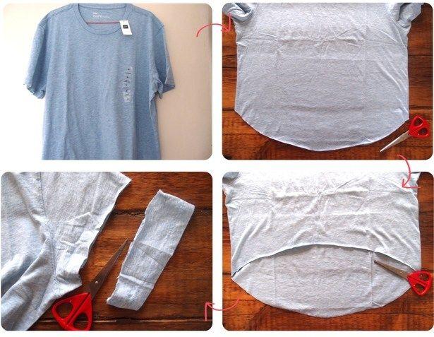 Как из футболки сделать топ