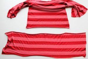 Укорачивание футболки